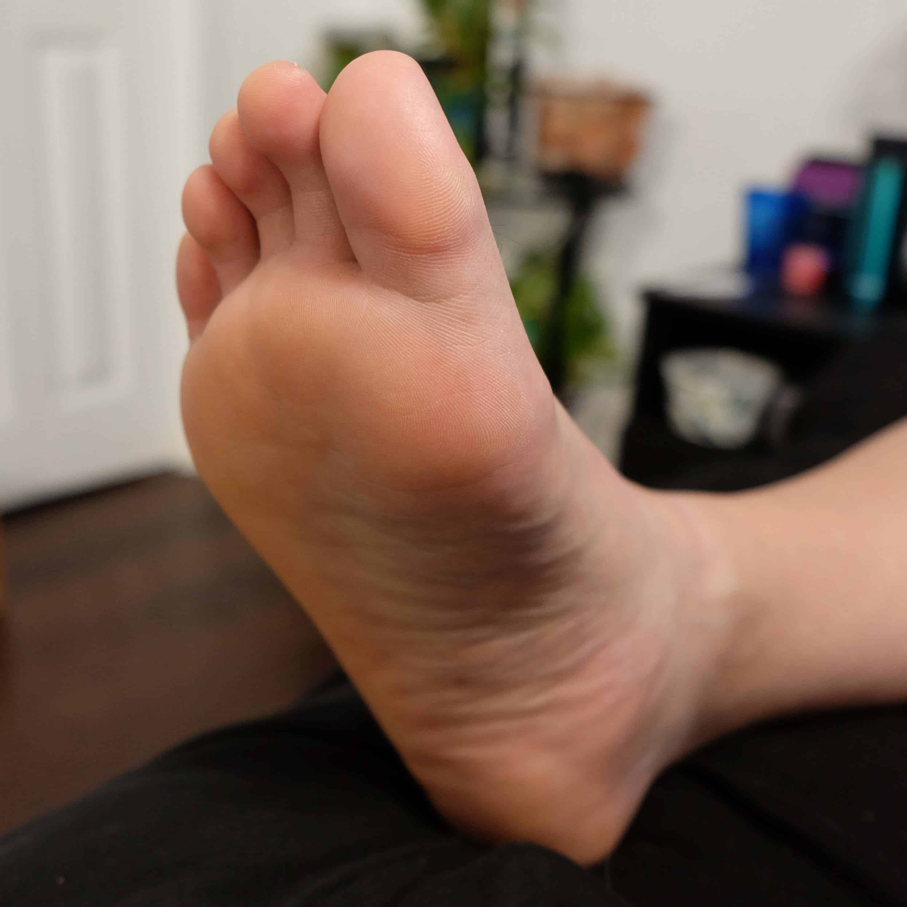 Bottom of a persons foot