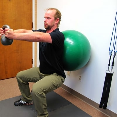 Jordan Wilde demonstrating squat form